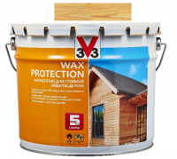 V33 Wax Protection сосна 2.5 л, Антисептик для дерева с добавлением воска